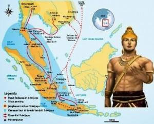 Peta Kerajaan Sriwijaya masa Raja Balaputradewa