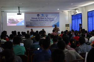 Suasana Pelindo Goes To Campus di Universitas Kristen Artha Wacana.
