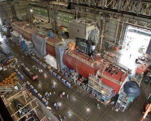 Proses pembuatan kapal selam di galangan kapal Korea, DSME