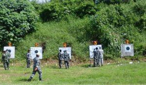 Latihan menembak Lanal Banyuwangi.