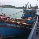 Bakamla RI Tangkap Kapal Vietnam Muat Ratusan Kilo Cumi Basah