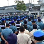 Perpisahan Laksda TNI I. G Putu Wijamahaadi kepada seluruh Prajurit Kolinlamil