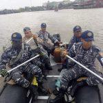 Tim SAR Lanal Tanjung Balai Asahan Laksanakan Pencarian Orang Tenggelam