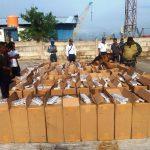 Lantamal IV Tanjungpinang berhasil Amankan 10.000 slop Rokok Illegal