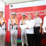 Menhub Hadiri Launching Jasa Pemanduan Selat Malaka dan Singapura oleh Pelindo I di Batam