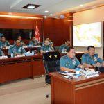 Pangarmabar Inspeksi Kesiapan Personel melalui Konferensi Video