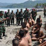 Wakasal Kunjungi Latihan Prajurit Petarung Korps Marinir