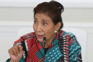 Menteri Kelautan dan Perikanan, Susi Pudjiastuti saat memberikan penjelasan mengenai manfaat kenaikan MSY dalam perang melawan illegal fishing.
