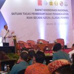 Bakamla RI sampaikan prestasi Pemberantasan Illegal Fishing di Rakornas 115