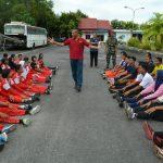 Bakamla RI Terlibat dalam Pengibaran Merah Putih di Perbatasan RI-Malaysia