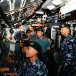 Kasal Pimpin Penyambutan KRI Nagapasa-403 di Dermaga Ujung