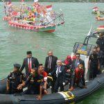 Mendesa PDTT Bersama Kabakamla Inspeksi Perahu Hias di Perairan Perbatasan