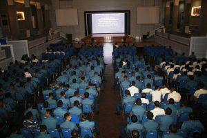 Suasana hari ke dua nonton bareng film Pengkhianatan G30S PKI yang berlangsung di Gedung Panti Tjahaja Armada (PTA) Koarmatim, Ujung Surabaya. Senin, (25/09).