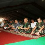 Sambut HUT TNI ke-72, Peserta Gladi Parsial Gelar Doa Bersama
