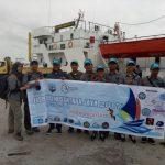 Tim ENJ 2017 Kaltara Menuju Tapal Batas dengan KM Sabuk Nusantara 36
