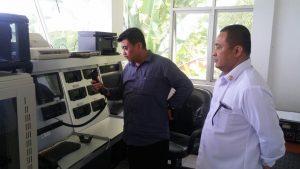 Kepala Biro Umum Bakamla RI Laksma TNI Suradi A.S., S.T., S.Sos., M.M. melakukan kunjungan ke Pangkalan Armada Serei Bakamla RI, Senin (25/9).