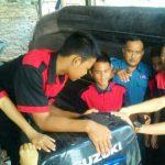 Lanal Tanjung Balai Asahan Perkenalkan Mesin Sekoci Kapal Kepada Siswa-Siswi SMK