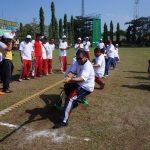 Misi Pengakraban Instansi dan Sambut HUT TNI ke-72, Lanal Tegal Olahraga Bersama Polri