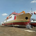 KM Sabuk Nusantara 98 Diluncurkan di Galangan YWTS Semarang