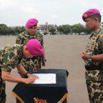 Serah Terima Jabatan Komandan Batalyon Infanteri 4 Marinir