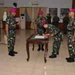 Dankormar Pimpin Sertijab Ka Akun Korps Marinir