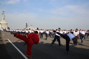 Latihan bela diri prajurit Koarmatim.