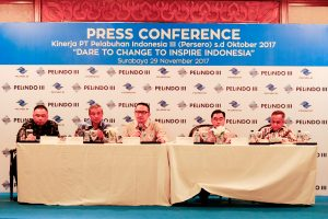 Press Confrence kinerja Pelindo III.