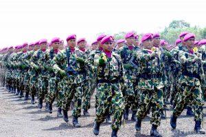 Defile Pasukan Marinir TNI AL