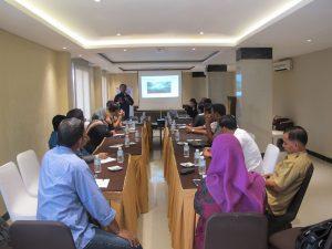 Diskusi bertema 'Pengelolaan Sumber Daya Kelautan dan Perikanan Berkelanjuatan' yang diselenggarakan oleh Konsulat Amerika Serikat untuk Sumatera dan WWF Indonesia di Hotel Arabia Banda Aceh, Selasa (31/10).