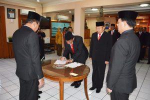 Suasana pelantikan pejabat teras baru Bakamla RI.