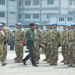 Tiba di Kolinlamil, KRI Bung Tomo-357 Disambut Panglima TNI