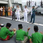 Siap Latihan Bersama, Kapal Perang Indonesia dan Brunei Sandar di Ranai