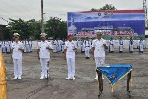 Serah terima jabatan Danlanal Batuporon dan Danlanal Banyuwangi di Lantamal V.