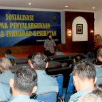 Cegah Penyebaran Narkoba di Masyarakat, Pushidrosal Terima Sosialisasi dari BNN