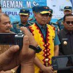 Dialog dengan Masyarakat Maritim dan Nelayan di Nias, Danlatamal II Dianugrahi Gelar Adat