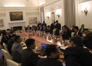 Kunjungan kerja The First Indonesia-India Security Dialogue (IISD-1) di kantor Mako ICG, New Delhi India, beberapa hari lalu.
