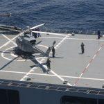 KRI BAC-593 Laksanakan Helly Deck Party di Perairan Selat Bali