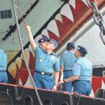 Pantau Kesiapan Latihan Pra Operasi, Pangkolinlamil Inspeksi KRI Teluk Hading