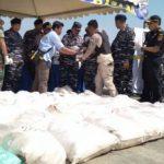 Disamarkan Tumpukan Beras, Penyelundupan 1 Ton Sabu berhasil Digagalkan TNI AL