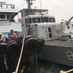 KRI Tenggiri-865 Tangkap Tug Boat Di Babel