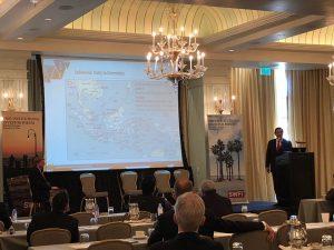 Menko Luhut saat menjadi keynote speaker dalam Global Sovereign Wealth Fund Institute Annual Coference 2018 di Santa Monica, Amerika Serikat, Rabu (21/2).