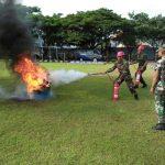 Antisipasi Kejadian Tak Terduga, Satlinlamil Surabaya Latihan Penanggulangan Kebakaran