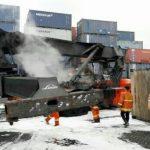Reach Stacker Terbakar, Operasional Pelabuhan Tanjung Priok tetap Lancar