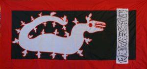 Panji Lipan Api yang merupakan bendera perang Kesultanan Sumbawa.