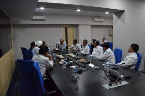 Kepala Bakamla RI Laksdya TNI Ari Soedewo tatkala menerima kunjungan delegasi India di Kantor Pusat Bakamla RI Gedung Perintis Kemerdekaan, Jalan Proklamasi No. 56, Jakarta Pusat, Selasa (6/3).