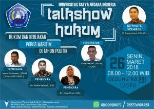 Banner Talkshow Hukum Maritim USNI.