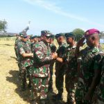 Motivasi Garda Terluar, Dankormar Kunjungi Prajurit Penjaga Pulau Batek