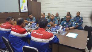 Kapushidrosal Laksamana Muda TNI Dr. Ir. Harjo Susmoro, S.Sos., S.H., M.H., kunker ke Pertamina Balikpapan.