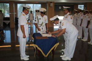 Pangarmada II pimpin sertijab tiga asistennya di Mako Koarmada II, Surabaya, Sabtu (19/5).