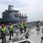 Bersama USNS Rappahannock-204 , KRI RE Martadinata-331 Latihan RAS di Laut Natuna
